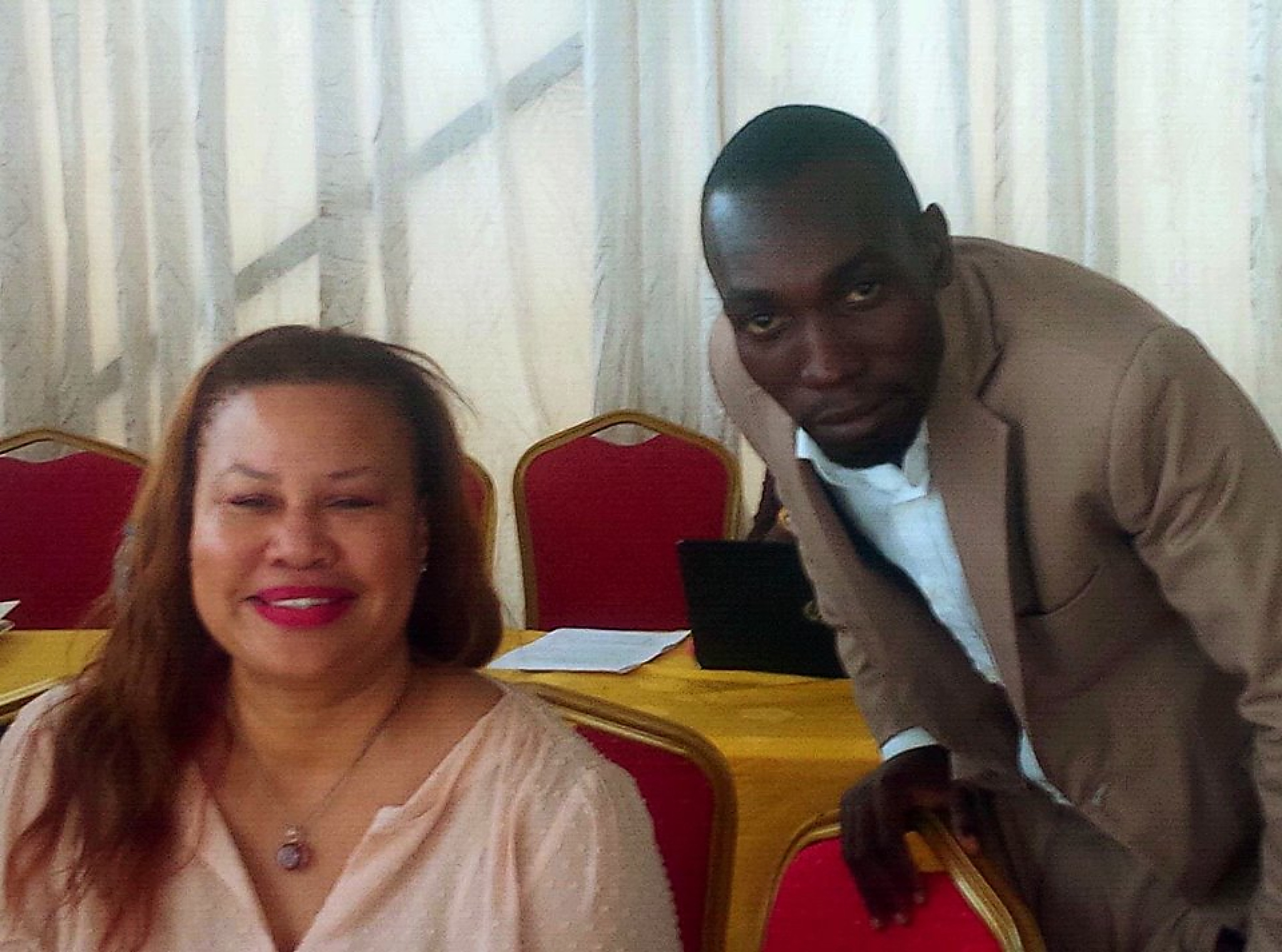 Ms Vernice Guthrie (WAD) and Mr Ojumude (CMADI)